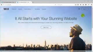 בניית אתר וויקס - וויקסר (wix video) - כניסה לחשבון הוויקס שלכם