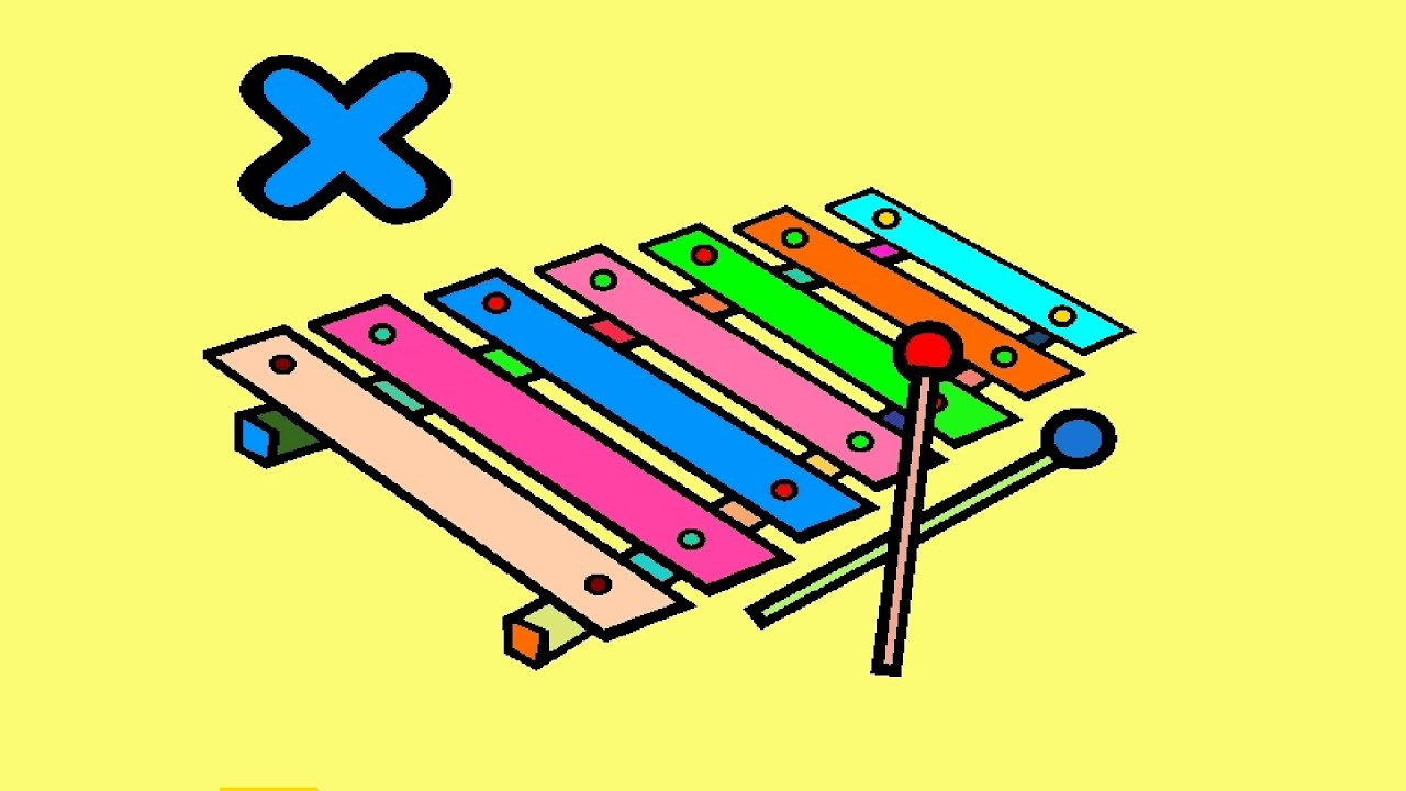 xylophone coloring pictures for kids xylophone coloring pages youtube