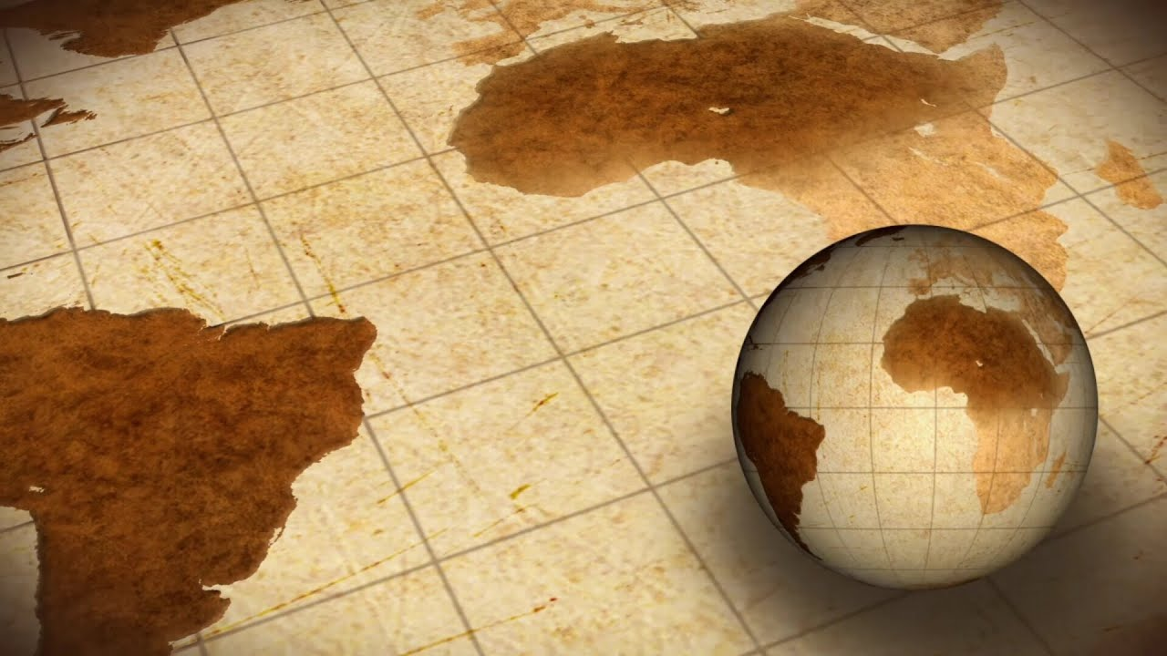 Vintage rotating globe and map of the world background youtube gumiabroncs Gallery