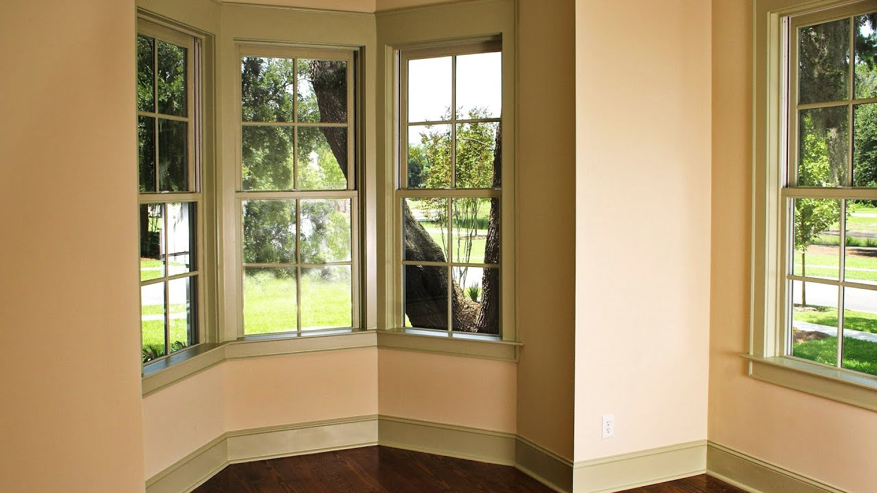 Window treatments for bay windows interior design youtube for Window design interiors