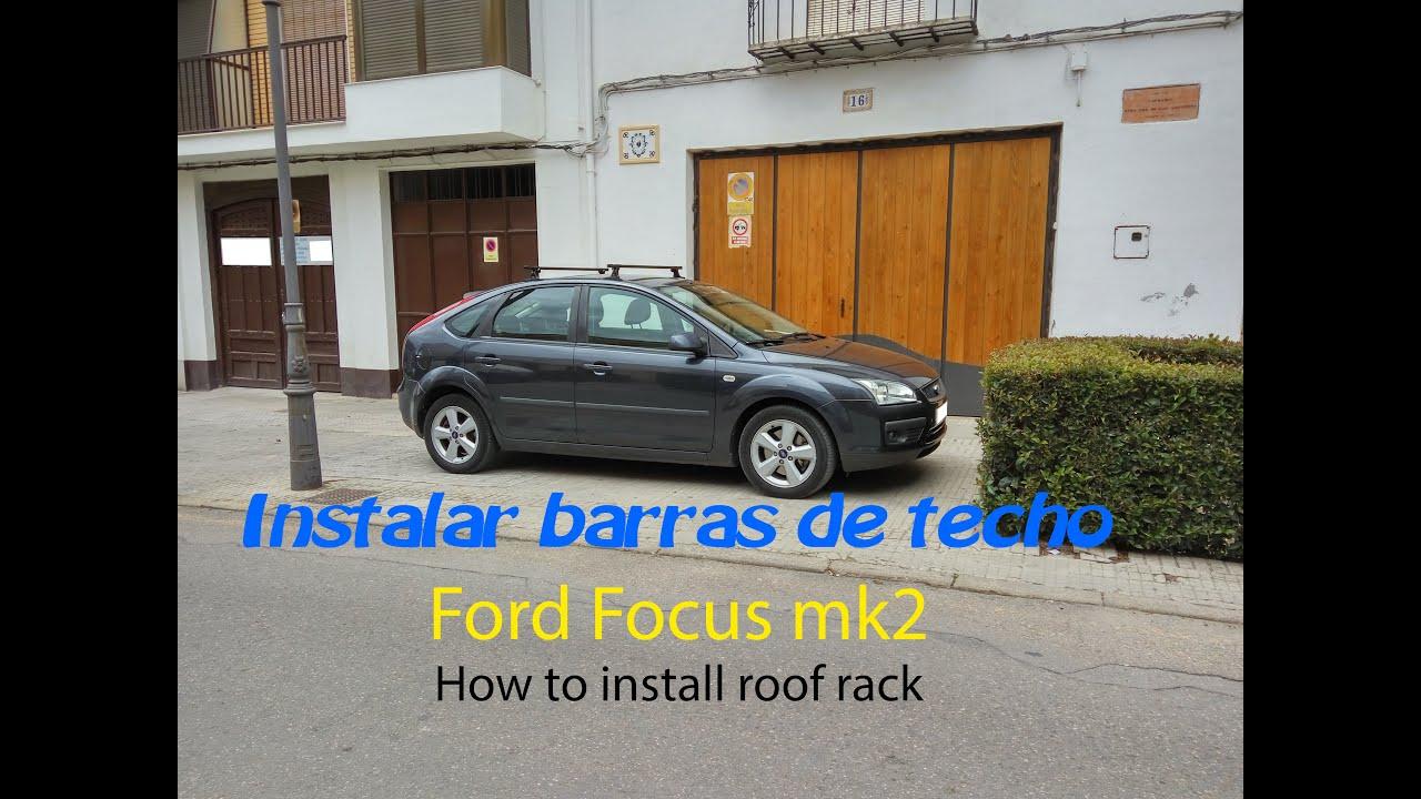 Tutorial Destapar Agujeros Baca Ford Focus Mk How To Open The Moorings For Roof Rack