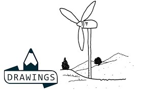 Speed drawing : How to draw a Wind mill