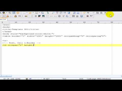 Creating A HTML Template Basic Tutorial