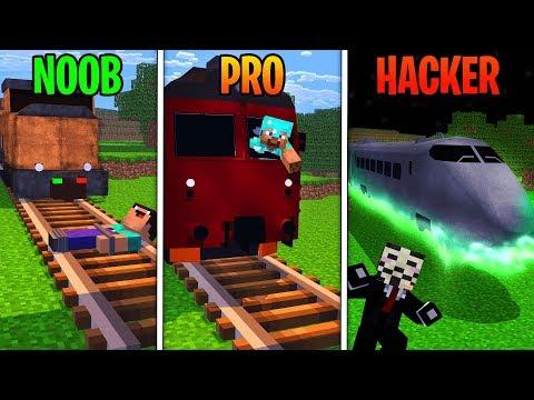 Minecraft - NOOB PRO HACKER - TRAINS! thumbnail