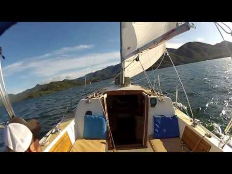 sailing Whiskeytown lake on a American Mariner sailboat