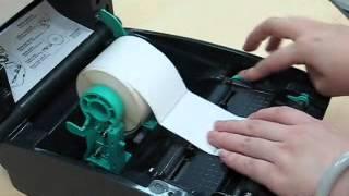 วิธีการใส่กระดาษเครื่องพิมพ์บาร์โค้ด TSC TTP-245C ,TTP-244 Printer Barcode