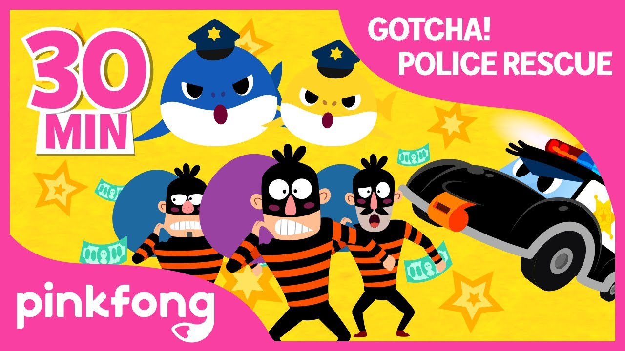 Police Car Rescue Team Special | +Compilation | Police Car Special | Pinkfong Songs for Children