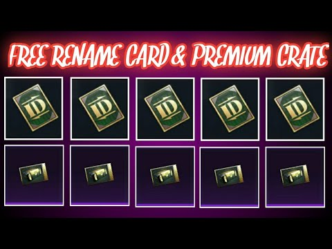 Unlimited Premium Crate Coupons | How To Get Free Unlimited Rename Cards in Pubg Mobile