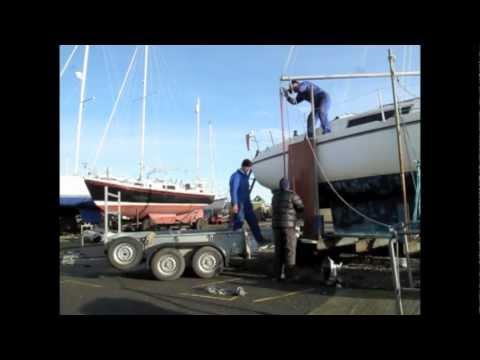 hoisting yanmar ysm engine  boat  boom main sheet youtube