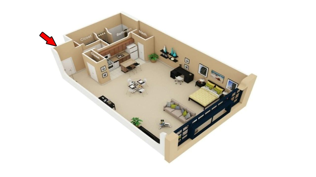 22 simple studio apartment floor plans youtube for Small apartment layout plans
