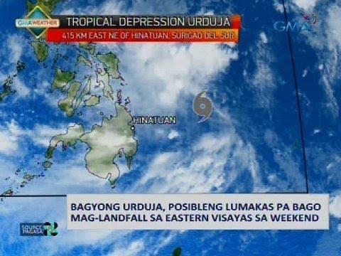 Bagyong Urduja, posibleng lumabas pa bago mag-landfall sa Eastern Visayas sa weekend