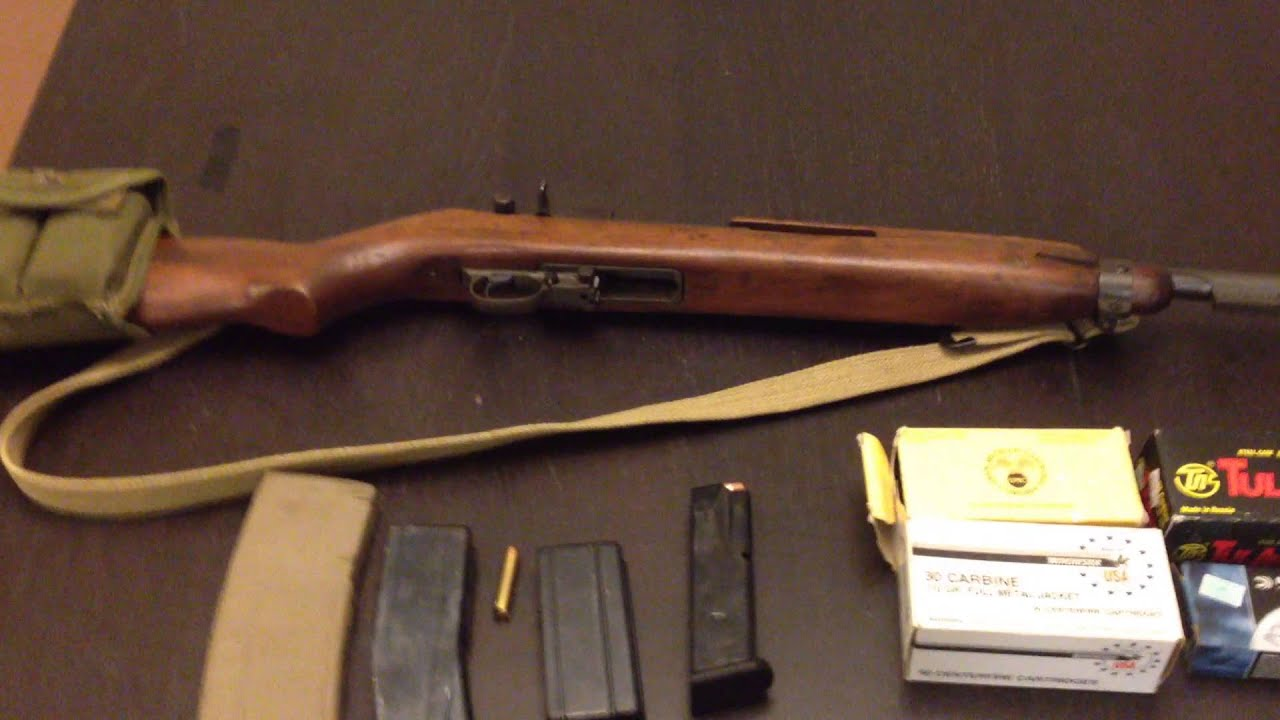 Inland M1 Carbine home defense - YouTube
