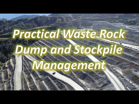 Practical Waste Rock Dump and Stockpile Management in High Rainfall and Seismic Regions