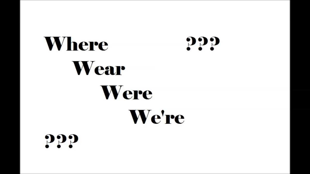 English Pronunciation Where Wear Were Were Youtube