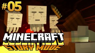 BATALHA NO NETHER! - Minecraft Story Mode #05