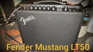 Fender Mustang LT50 1x12 50 watt amplifier. All presets.