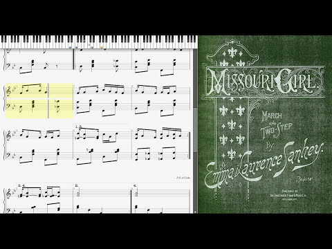 The Missouri Girl by Emma Laurence Sankey (1904, Ragtime piano)
