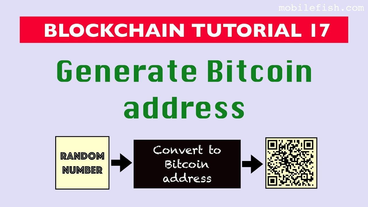 how to create a bitcoin address youtube