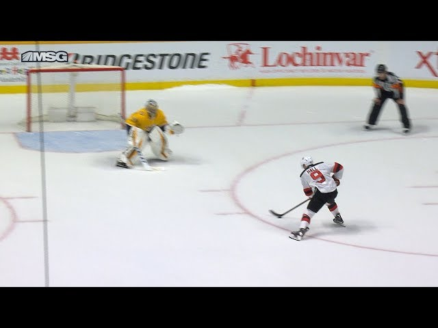 Hall pushes Devils past Predators in shootout
