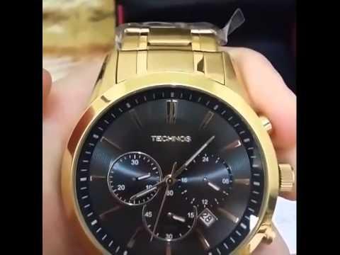Relógio technos Dourado Cronógrafo - YouTube 26f257e046