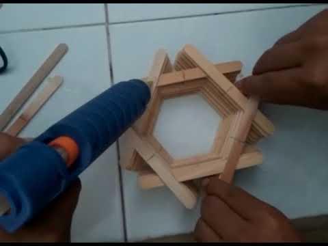 Cara Membuat Vas Bunga dari stik ES KRIM