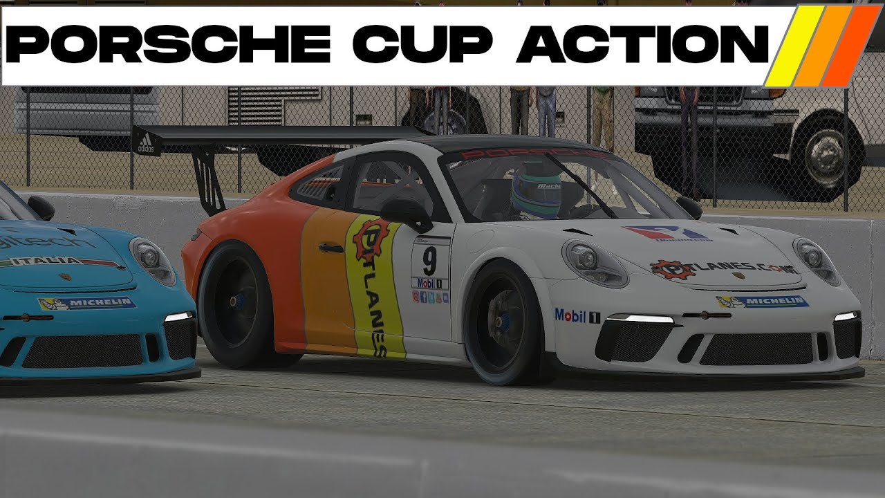 iRacing Sebring Porsche Cup Car action