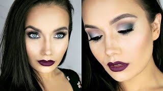 fall green smokey eyes berry lips   make up for ever artist palette vol 4