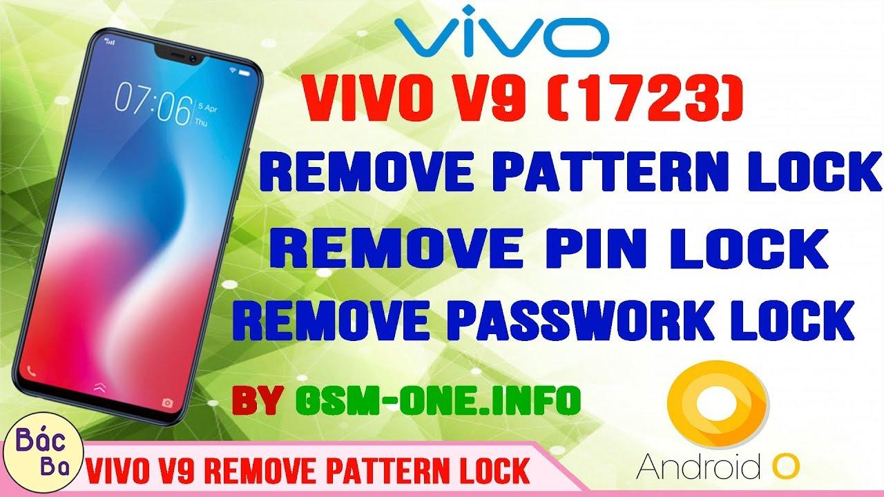 VIVO V9 (1723) Remove Pattern Lock | Remove Pin Lock | Remove Passwork Lock  | Android 8 1