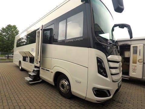 Morelo Empire Liner 118 GSO люкс автодом c гаражом для Mercedes и слайдером. Подробный обзор