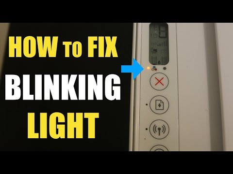 How To Fix HP Printer BLINKING/FLASHING Light !!