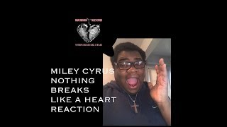 Mark Ronson Feat. Miley Cyrus - Nothing Breaks Like A Heart (REACTION) Video