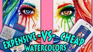 CHEAP vs EXPENSIVE Watercolors | Is it Worth it to Pay More? (Prang vs Winsor and Newton)
