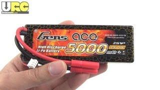 Gens Ace 5000mAH 40C 2S 7.4V hardcase LiPo RE-test