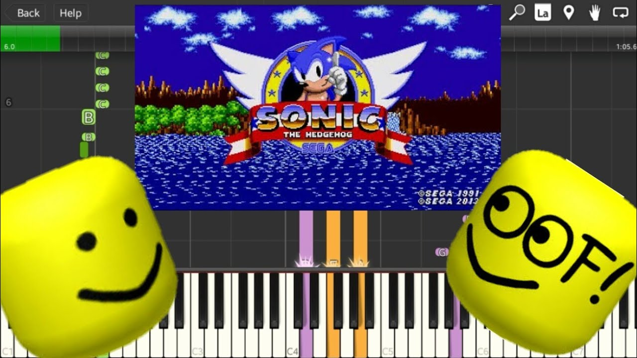 Sonic The Hedgehog Green Hill Zone But Its Roblox Death Sound