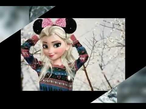 السا وانا يلعبان بالثلج