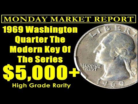ELUSIVE 1969 Washington Quarter Finally Sees BIG Sale! - MONDAY MARKET REPORT