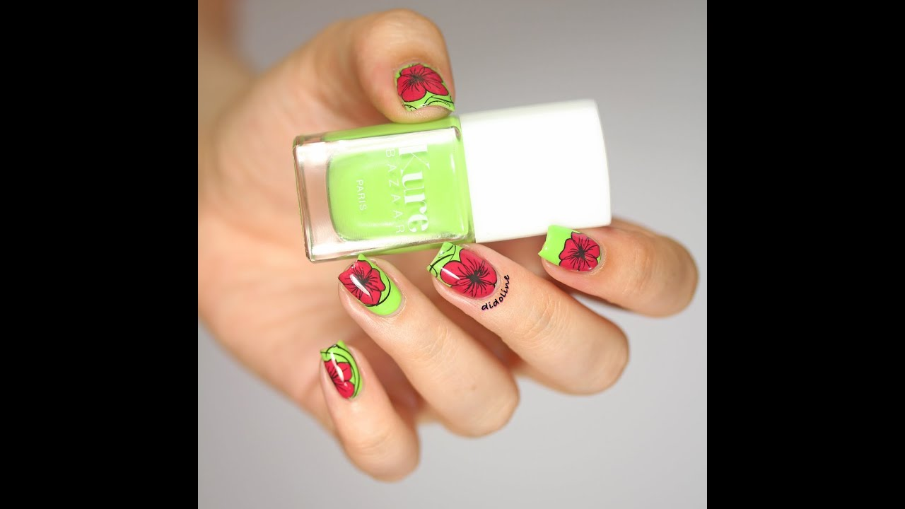 Nail Art On Youtube: Stamping Inversé