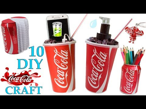 10 DIY COCA COLA Craft HOW TO! Recycling