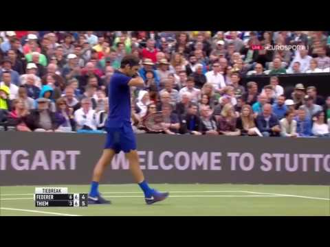Roger Federer vs Dominic Thiem MercedesCup 2016 Semifinal Highlights HD