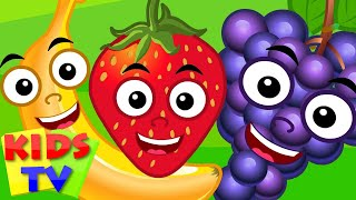 five little fruits | kids TV | fruits song | original nursery rhymes for children