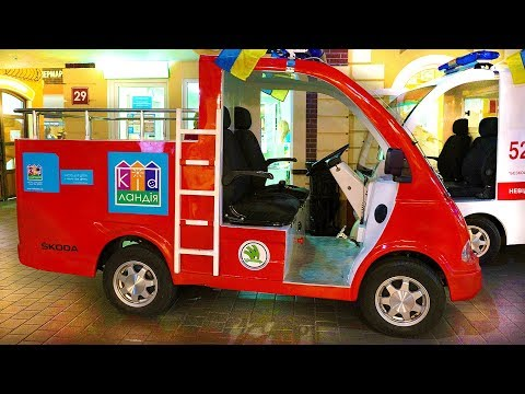 Fire trucks Car for kids / Vlad pretend play at entertainment playground for children