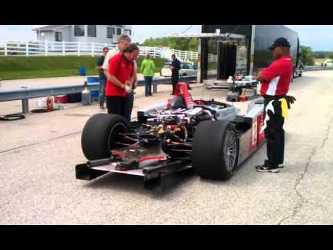 Audi R8 LMP warm up