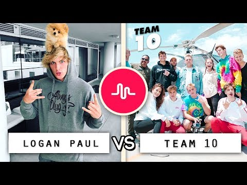 Thumbnail: New Logan Paul vs Team 10 Musical.ly Compilation / Who's the Best