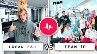 New Logan Paul vs Team 10 Musical.ly Compilation / Who's the Best