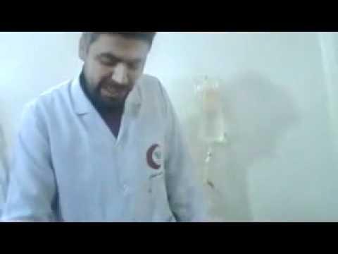شام حمص باباعمرو طفلة مصابة بالرأس جراء ...