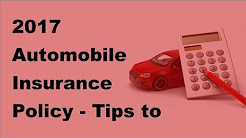2017 Automobile Insurance Policy    Tips to Discover the Cheapest Auto Insurance Policy