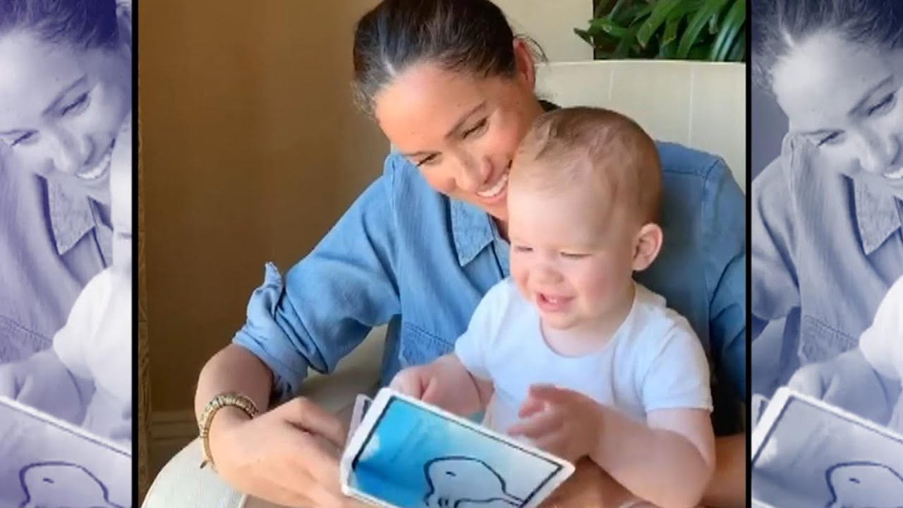 meghan markle s son archie shows off his big personality in rare video youtube meghan markle s son archie shows off his big personality in rare video