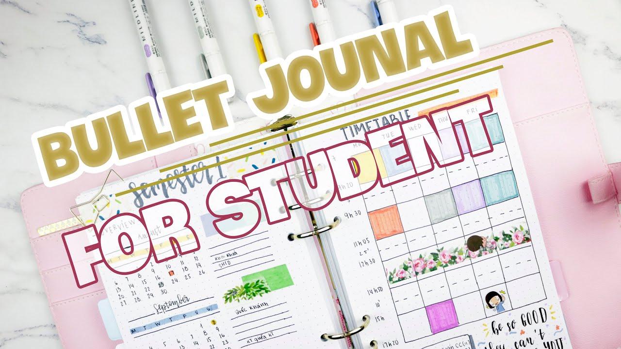 Ý TƯỞNG BULLET JOURNAL CHO NĂM HỌC MỚI | BACK TO SCHOOL | BUBBLE NOTEBOOK