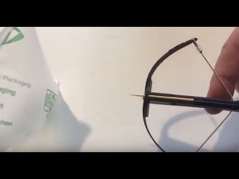 Wish unboxing toothpick mini crossbow and build.