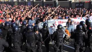 Bologna: cariche e fermi al corteo contro Salvini